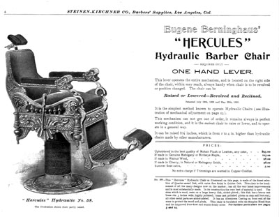 The handrests pictured are different than those on the u0027Time Machineu0027 chair. (Copy provided by Harvey Mayo) (click on ad to see larger image)  sc 1 st  ColemanZone & The Time Machine Project Barber Chair